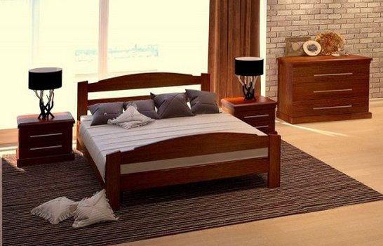 Дубовая кровать Эдель 120*200