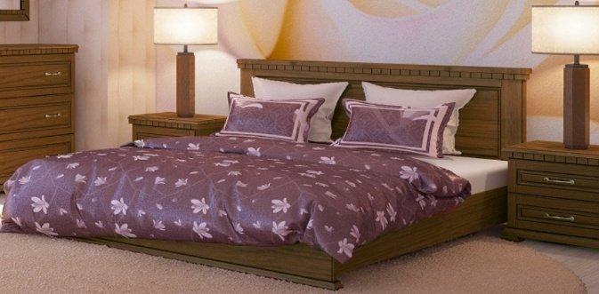 Дубовая кровать Элит 140*200
