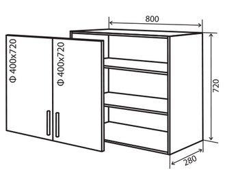Модуль №8 в 800-720 верх кухни «Техас»