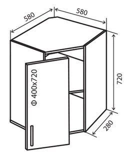 Модуль №14 в 580-580 верх кухни «Техас»