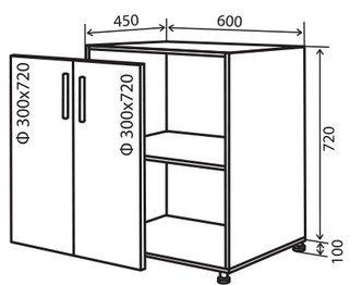 Модуль №6 в 600-820 низ кухни «Техас»