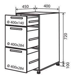 Модуль №9 в 400-820 низ кухни «Техас»