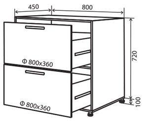 Модуль №11 в 800-820 низ кухни «Техас»