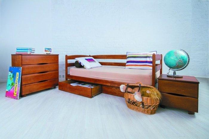 Детская кровать Марио с ящиками - 70х140 см