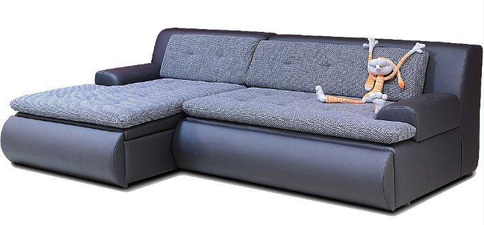 Кожаный угловой диван Крамб