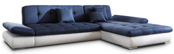 Кожаный угловой диван Квест без механизма