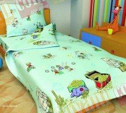 Детский комплект постельного белья Коты-пираты