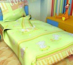 Детский комплект постельного белья Слоники