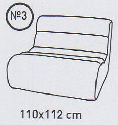 Модуль 3 к кожаному диван у Мегалайф