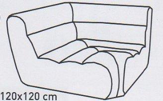Модуль 11 к кожаному диван у Мегалайф