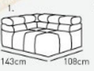 Модуль 1,2 к кожаному диван у Мегамакс