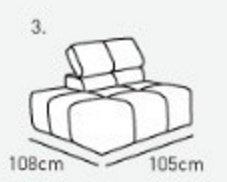 Модуль 3,4 к диван у Мегамакс
