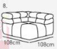 Модуль 8 к кожаному диван у Мегамакс