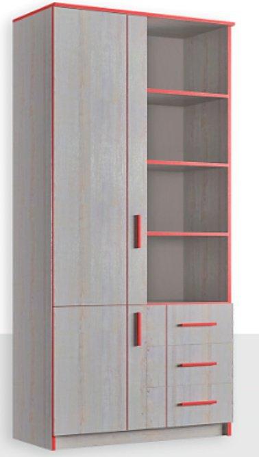 Шкаф книжный 2Д/3Ш Рио
