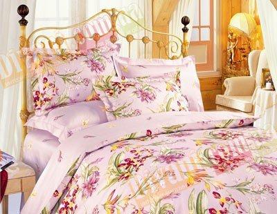 Полуторный комплект постельного белья Розовые ириски -637