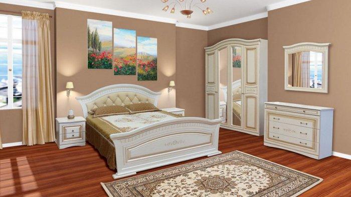 Модульная спальня Николь с 4-х, 5-ти дверным шкафом