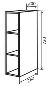 Модуль №1 в 200-720 верх кухни «Максима»