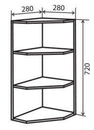 Модуль №15 вр 280-720 верх кухни «Максима»