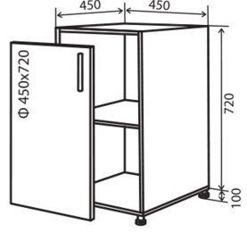 Модуль №4 н 450-820 низ кухни «Максима»
