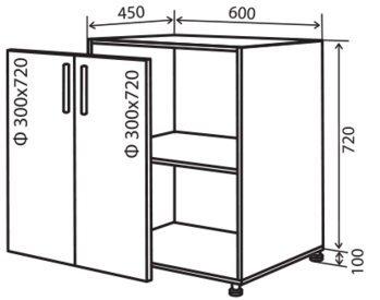Модуль №6 н 600-820 низ кухни «Максима»