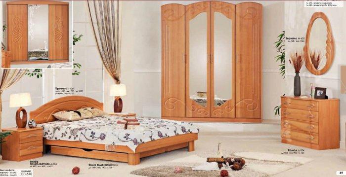 Спальня Ракушка (СП-510) Комфорт Мебель