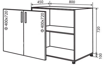 Модуль №7 н 800-820 низ кухни «Максима»