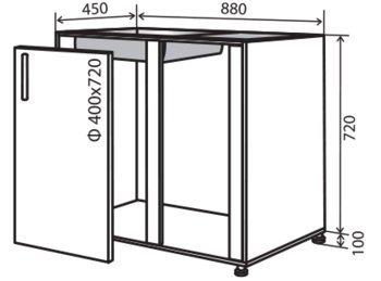 Модуль №15 му 880-820 низ кухни мойка «Максима»
