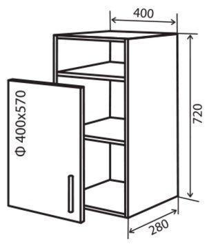 Модуль №23 вп 400-720 верх кухни «Максима New»