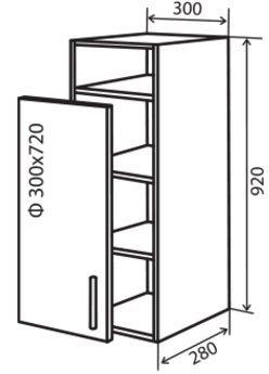 Модуль №32 вп 300-920 верх кухни «Максима New»