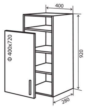 Модуль №33 вп 400-920 верх кухни «Максима New»