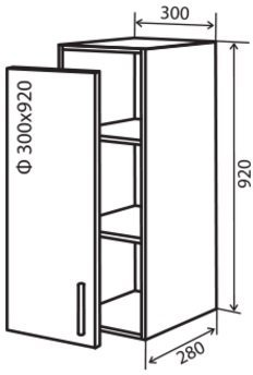 Модуль №42 в 300-920 верх кухни «Максима New»
