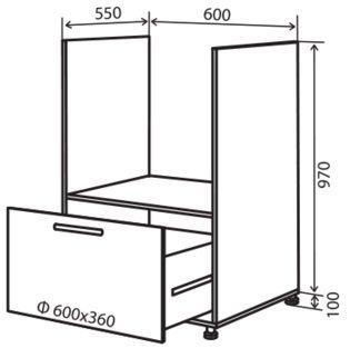 Модуль №32 нд 600-1070 низ кухни «Максима New»