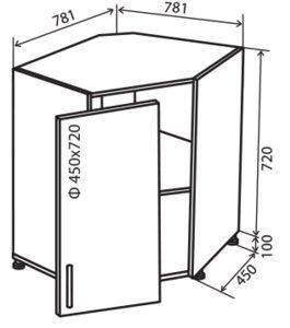 Модуль №34 мк 780-780 низ кухни мойка «Максима New»
