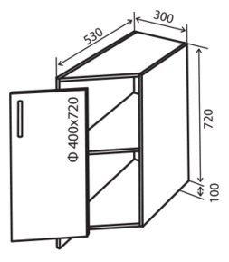 Модуль №37 нр 280-820 низ кухни «Максима New»