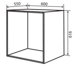Модуль №38 нн 600-620 низ кухни «Максима New»
