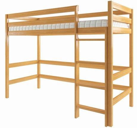 Двухъярусная кровать-чердак Эко 80x190см