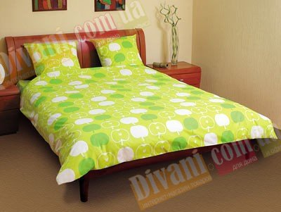 Двухспальный комплект постельного белья Яблоко -552