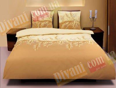 Двухспальный комплект постельного белья Коричневая верба -591
