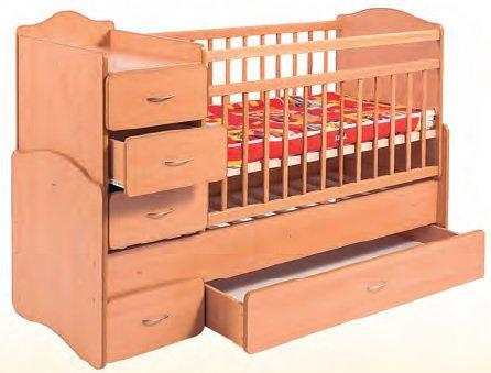 Кровать Детская-трансформер с ящиком и тумбой