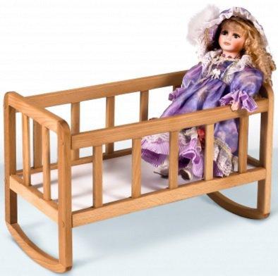 Кроватка для куклы Гойдалка