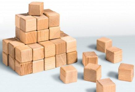 Кубики деревянные 4х4 (20 шт) Гойдалка
