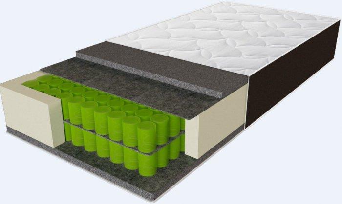 Односпальный матрас Sleep&Fly Organic Delta — 120x200 см