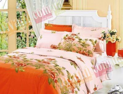 Двухспальный комплект постельного белья Оранжевая клеопатра -712