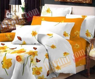 Двухспальный комплект постельного белья Нарцис -716