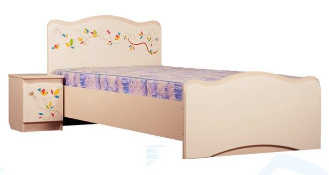 Односпальная кровать  Цветы жизни  (ящик)