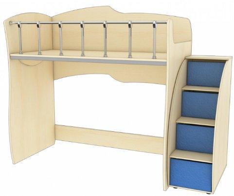 Кровать чердак без нижнего спального места КД 1-6 Планета Луна