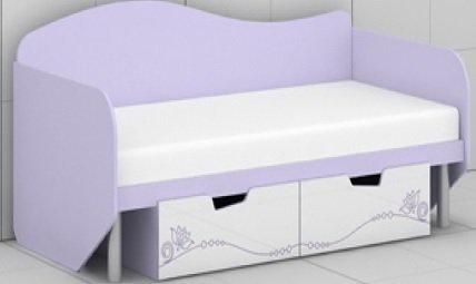 Кровать с выдвижными ящиками L-05/06 Гламур