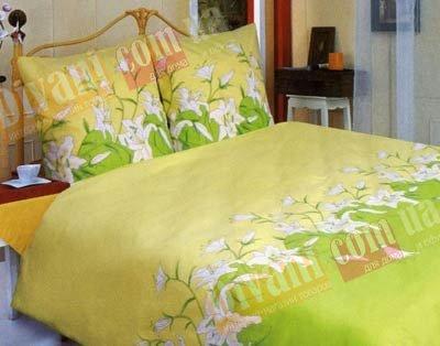 Семейный комплект постельного белья Зеленая лилия -658