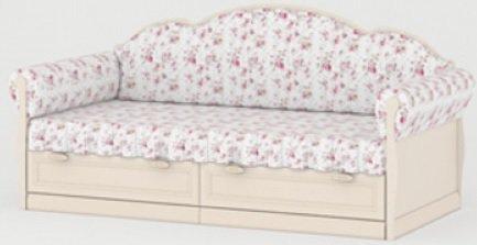 Кровать с мягкими спинкой и боковинами L-01 Прованс