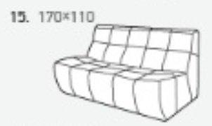 Модуль 15 к диван у Бостон